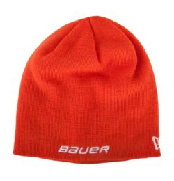 Bauer Logo Knit Hat New Era Orange