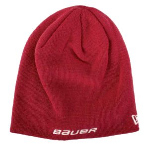 Bauer Logo Knit Hat New Era Red