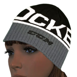 CCM Hat – Hockey Logo Knit Beanie – Skull Cap