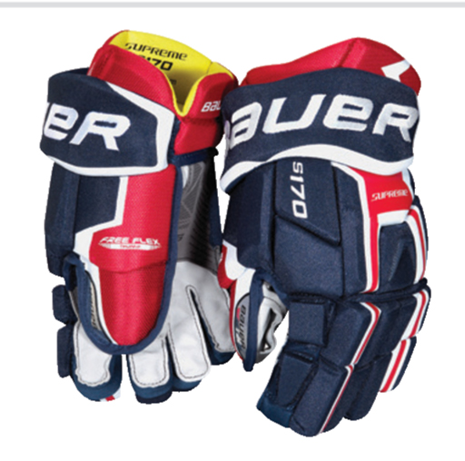 Bauer Supreme s170 Senior Ice Hockey Gloves - '17 Model