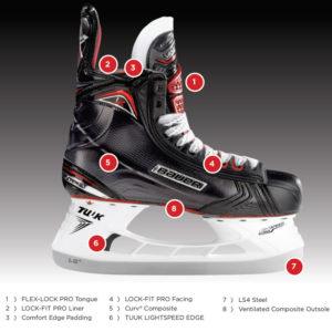 Bauer Vapor 1X Senior Ice Hockey Skates - '17 Model
