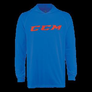 CCM Hockey Color Burst Long Sleeve Hooded Tee