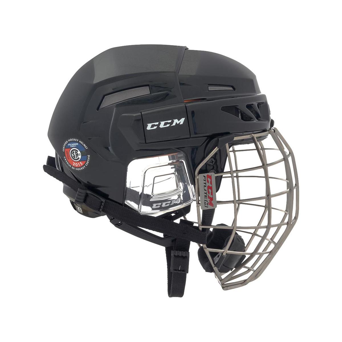 CCM FitLite 3DS Senior Helmet Combo Side