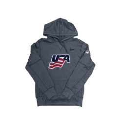 USA Hockey Nike Therma Pullover Performance Hoodie (Grey)